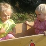 Aller Anfang ist schwer… in der Kinderkrippe Ludersdorf- Wilfersdorf KINDERLEICHT