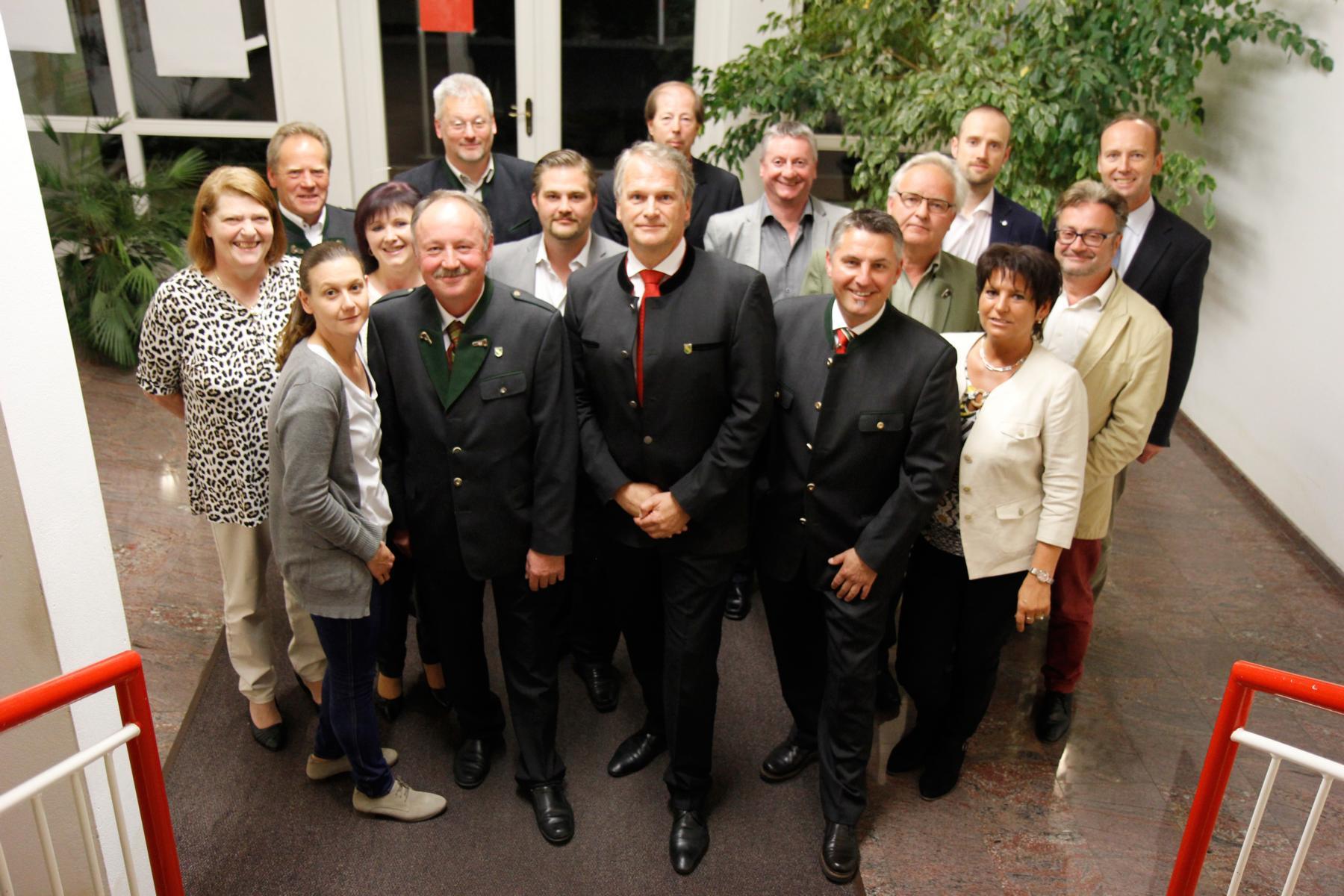 Gemeinderat 2015 im Beisein von Herrn Bezirkshauptmann Hofrat Dr. Rüdiger Taus