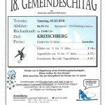 18. Gemeindeschitag fand am 3. März 2018 statt
