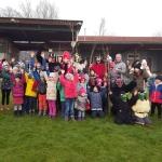 Nikolaus und Krampus besuchten Kinder in Ludersdorf-Wilfersdorf