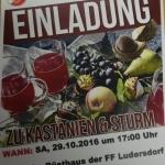FF Ludersdorf lädt zu Kastanien und Sturm