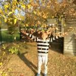 Wir genießen die schöne Herbstzeit im Hort
