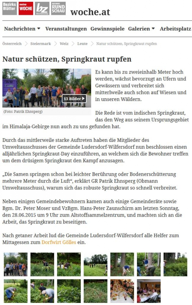 Osterfeuer und Sonnwendfeuer - Ludersdorf-Wilfersdorf