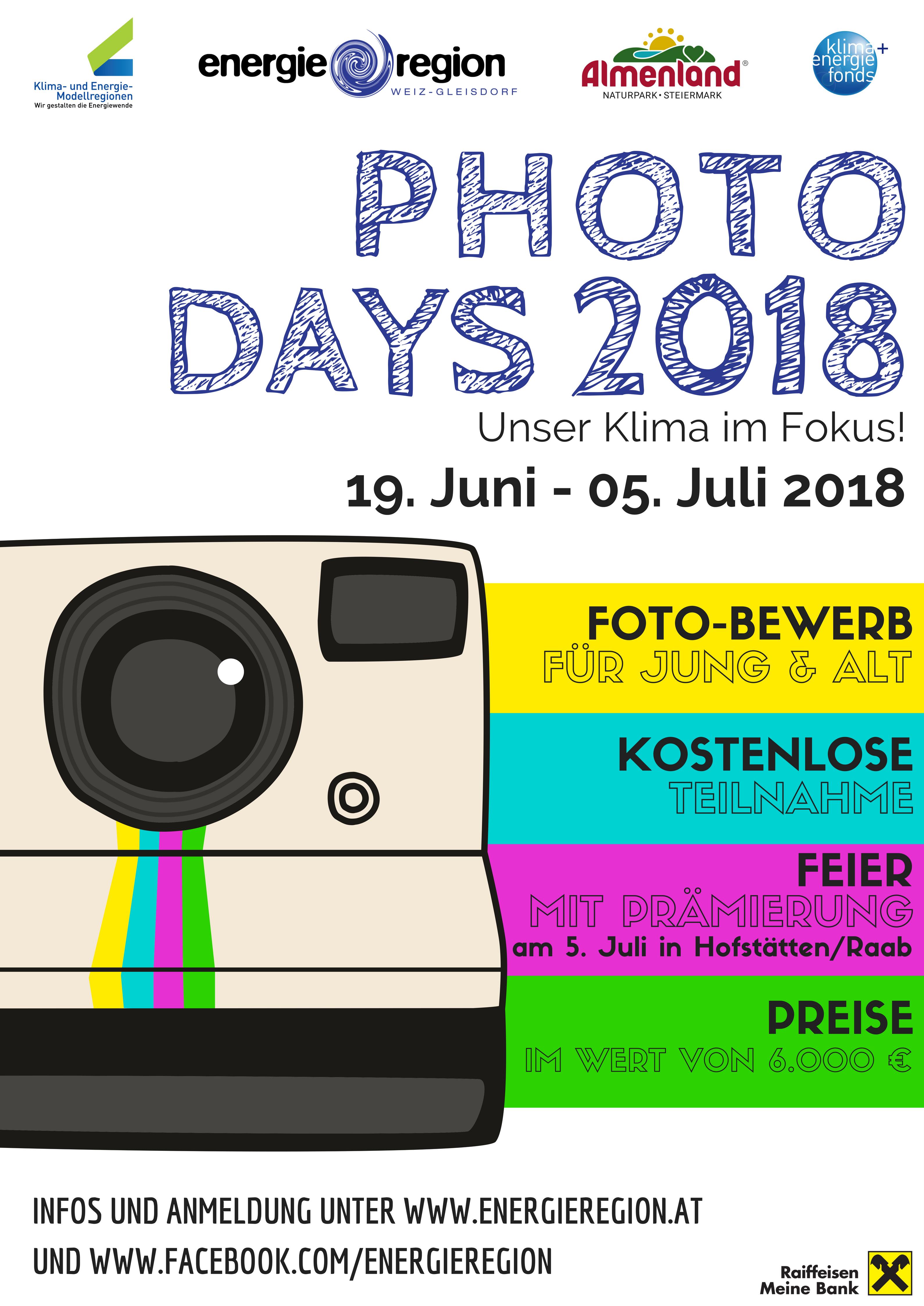 Photo Days 2018 ab 19. Juni 2018
