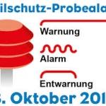 Zivilschutz-Probealarm 3.10.2015